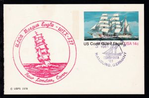 US POSTAL SERVICE NORDPOSTA '81 HAMBURG, GERMANY NOV 7 1981 + Cachet Bark Eagle