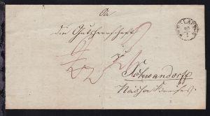 Breslau 1838 K1 BRESLAU 10.1. auf Bf. (Quittung der Königlichen