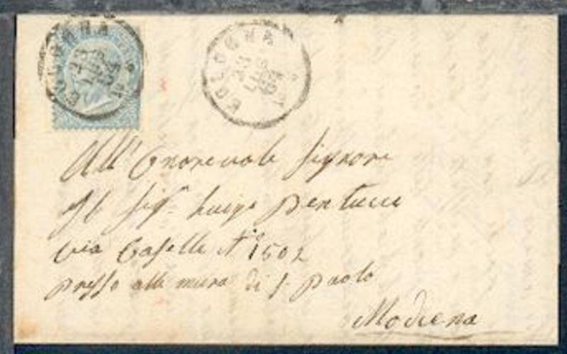15 C. (Eckrandstück mit 2seitig abgeschnittener Zähnung) auf Bf.