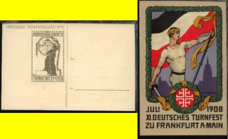Frankfurt/Main XI. Deutsches Turnfest zu Frankfurt a/ Main 1908
