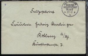 MSP 87 22.12.14 SMS Grosser Kurfürst auf FP-Bf., Bf. Mittelbug