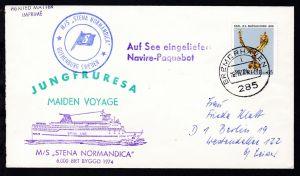 L2 Auf See eingeliefert Navire-Paquebot + Ost. Bremerhaven 16.12.74 + Cachets