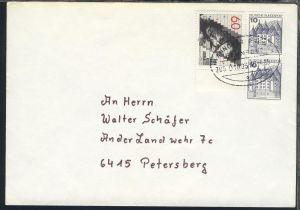 HANNOVER-BREMEN BAHNPOST a ZUG 01885 16.4.85 auf Brief