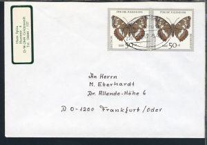 HANNOVER-BREMEN BAHNPOST ZUG 03357 9.4.91 auf Brief