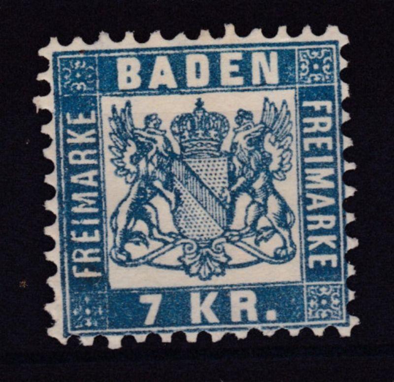 Wappen 7 Kr., (*), Gummierung nur teilweise vorhanden