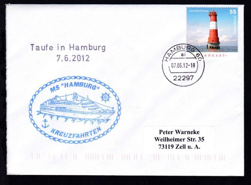 OSt. Hamburg 07.06.12 + L2 Taufe in Hamburg 7.6.2012 + Cachet MS Hamburg