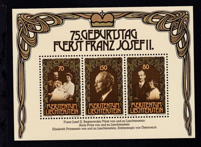 75. Geburtstag von Fürst Franz Josef II. Block **