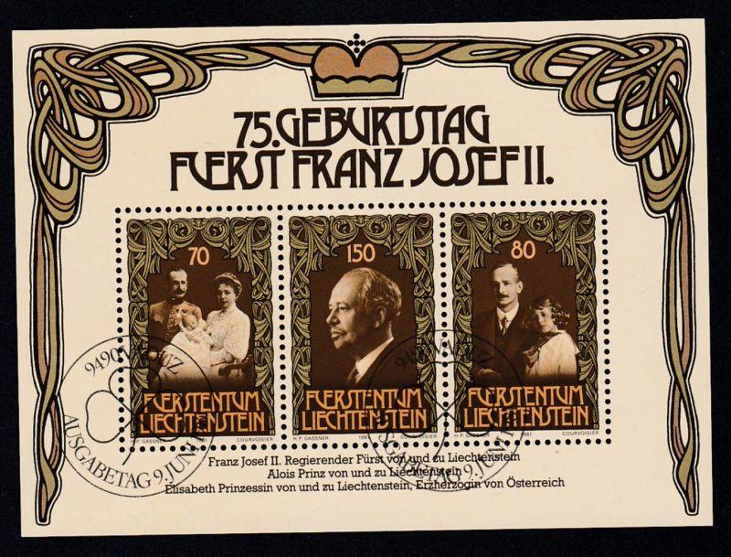 75. Geburtstag von Fürst Franz Josef II. Block