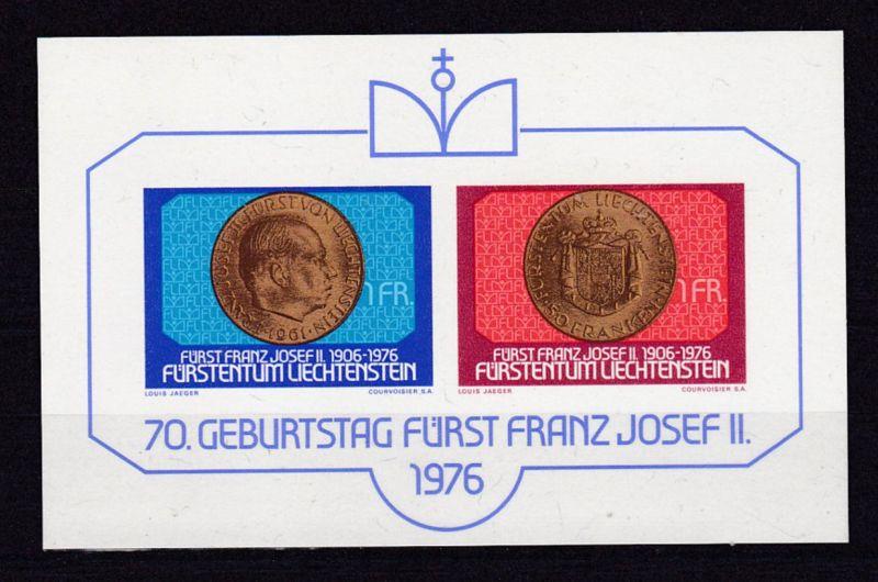 70. Geburtstag von Fürst Franz Josef II. , Block **