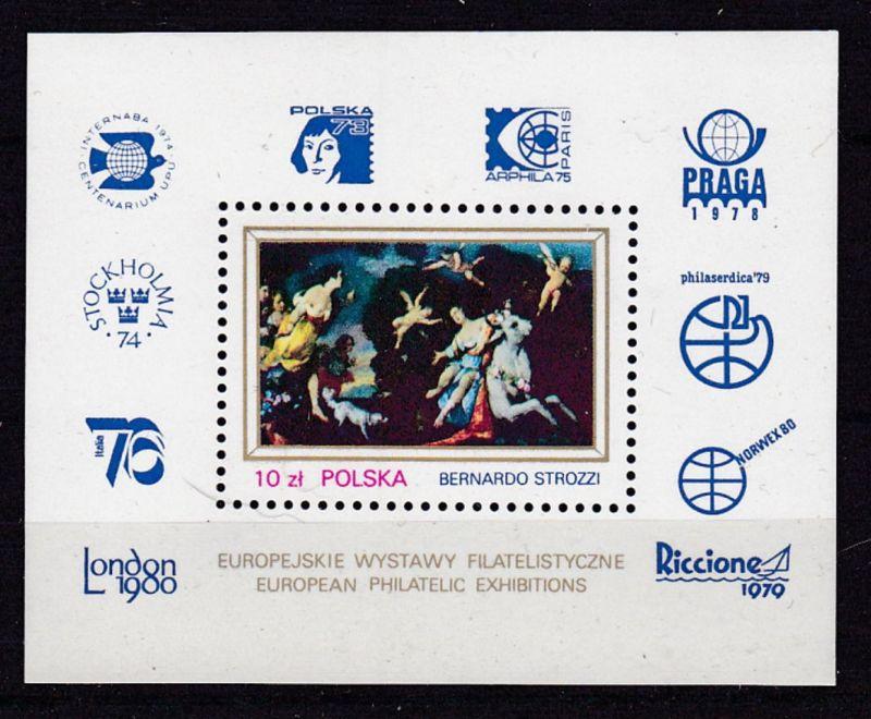 Internationale Briefmarkenausstellungen in Europa, Block **