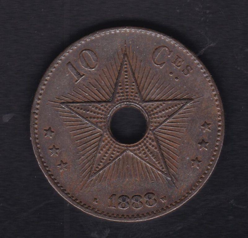 Belgisch-Kongo 10 Centimes 1888, SS