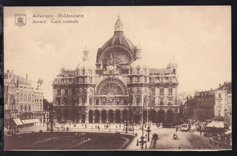 Antwerpen Hauptbahnhof, Karte rs Papierrest