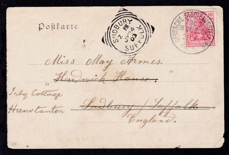 Dresden K1 DEUTSCHE STÄDTEAUSSTELLUNG 1903 IN DRESDEN 22.7. auf AK