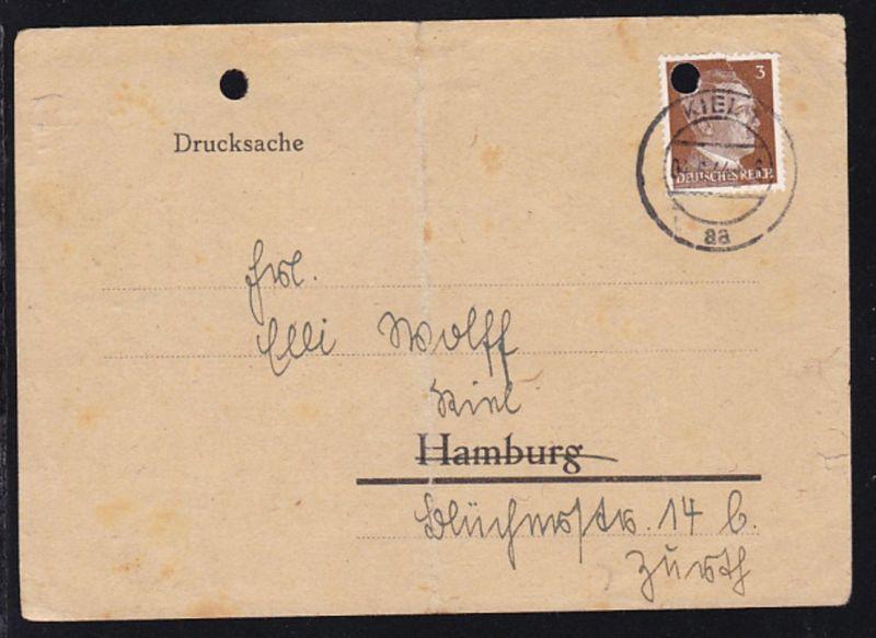 Kiel 1944 Drucksache der Stadtverwaltung Kiel Feststellungsbehörde