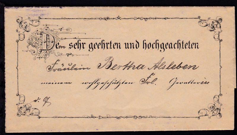 Rathmannsdorf 1896 dekorative Einladung zur Kindstaufe,