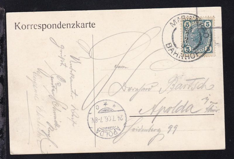 Kaiser Franz Joseph 5 H. auf CAK (Marienbad Halbmayr's Haus) ab Marienbad