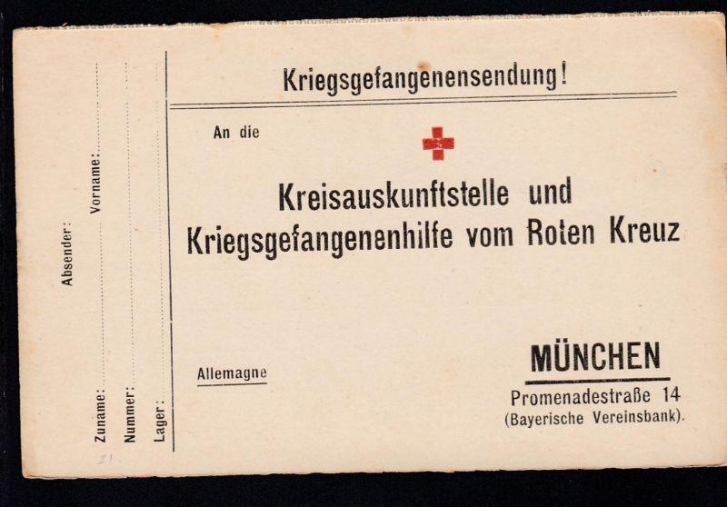 Kriegsgefangenenkarte Antwortkarte der Kreisauskunftsstelle und