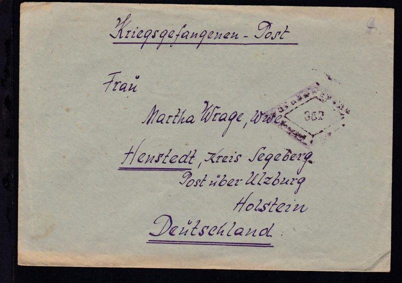 Lager 7289/I UdSSR Kriegsgefangenenbrief nach Henstedt Kr. Segeberg