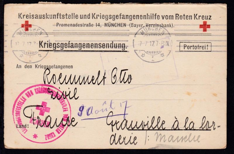 Kriegsgefangenenkarte de Kreisauskunftsstelle und Kriegsgefangenenhilfe