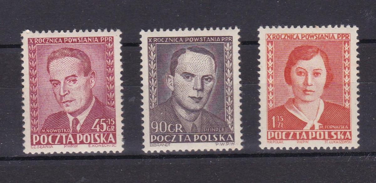 10. Jahrestag der Wiedergründung der Polnischen Arbeiterpartei (PPR) **
