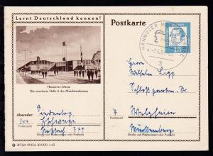 Bedeutende Deutsche 15 Pfg. mit Bild Hannover-Messe Halle 4 und K1