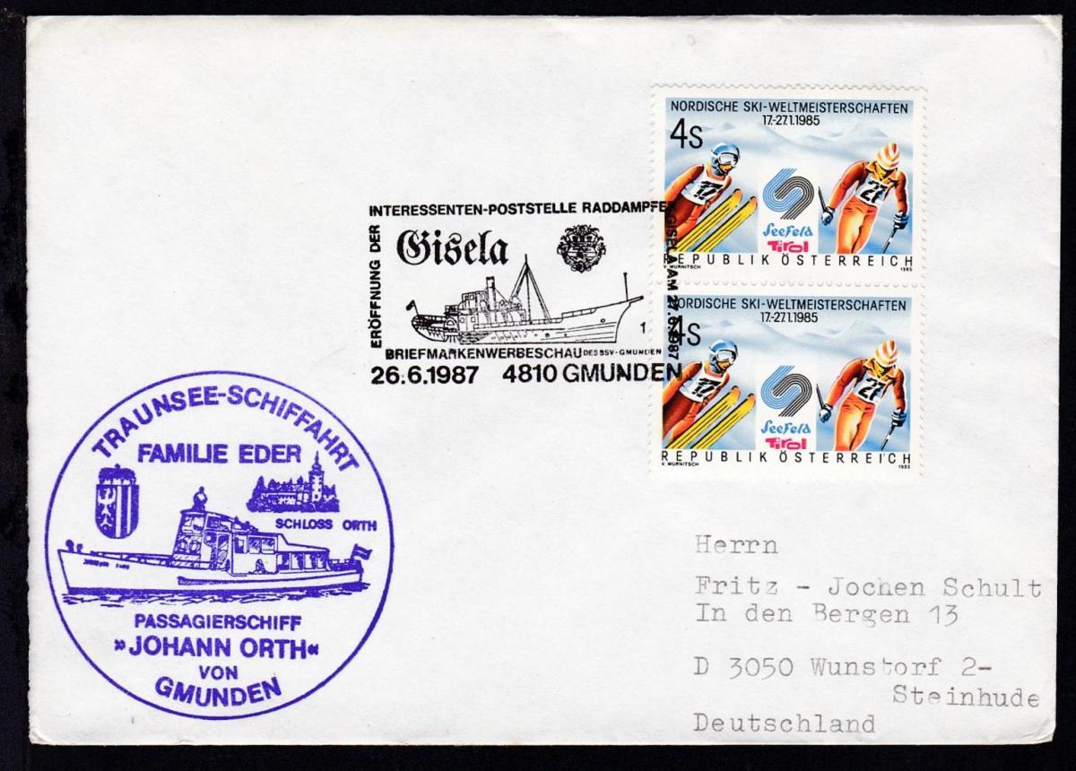 ERÖFFNUNG DER INTERESSENTEN-POSTSTELLE RADDAMPFER GISELA AM 27.6.1987 0