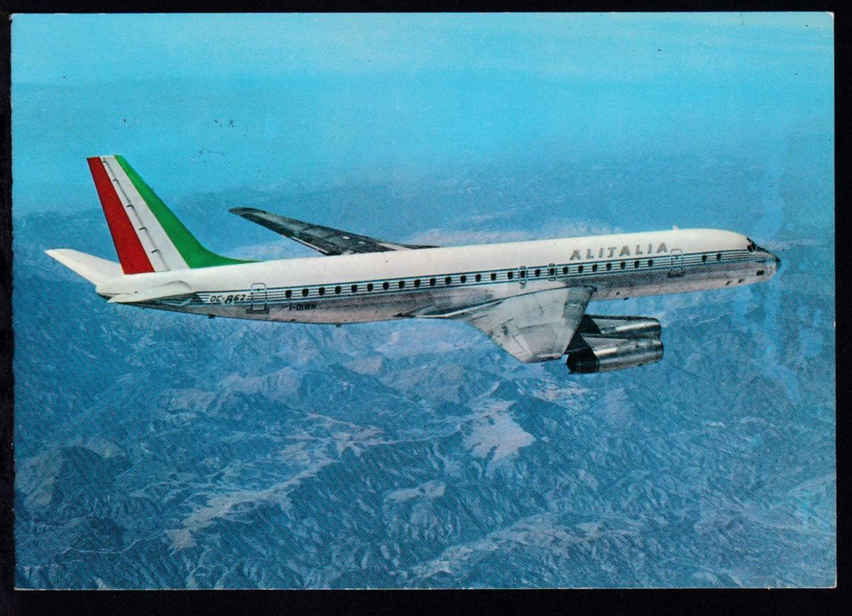 ALLITALIA-Erstflug Frankfurt-Rom 1.4.1969 Sonderstempel auf CAK 1