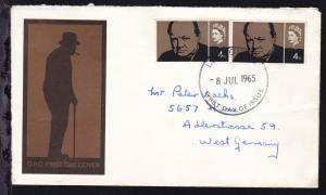 Winston Churchill 4 P. 2x auf FDC nach Haan/Deutschland