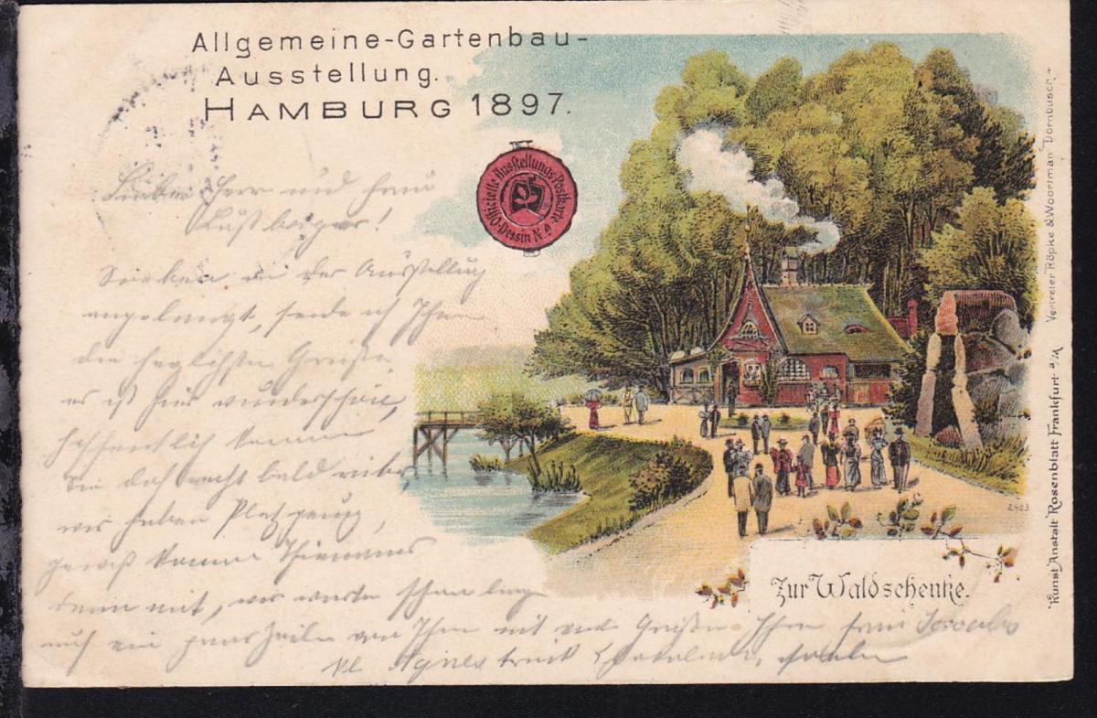 Hamburg K1 HAMBURG GARTENBAU-AUSSTELLUNG 17.5.97 auf Ausstellungs-Postkarte 1