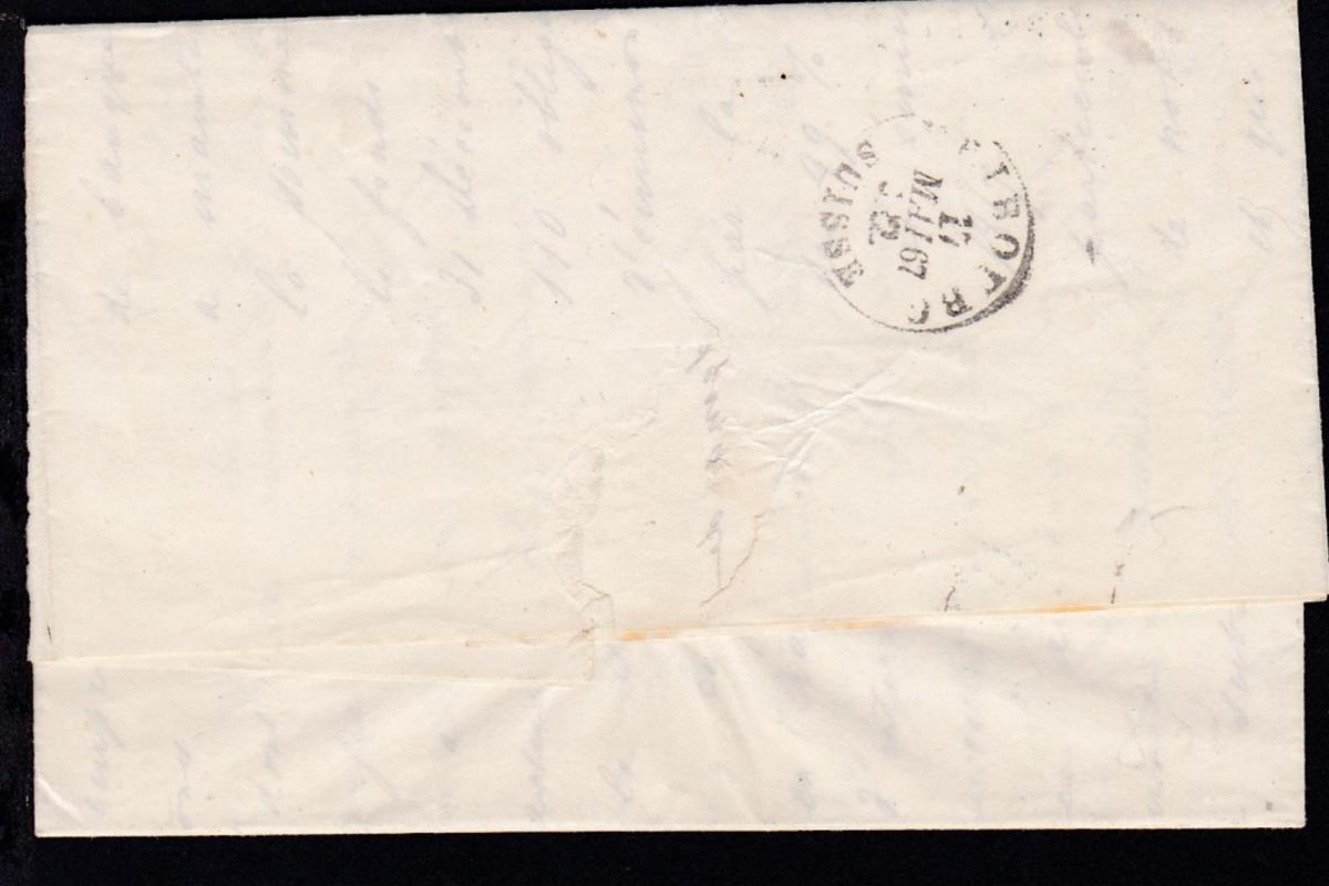 Sitzende Helvetia 10 C, auf Brief der Schweiz. Kreditgesellschaft Zürich ab 1