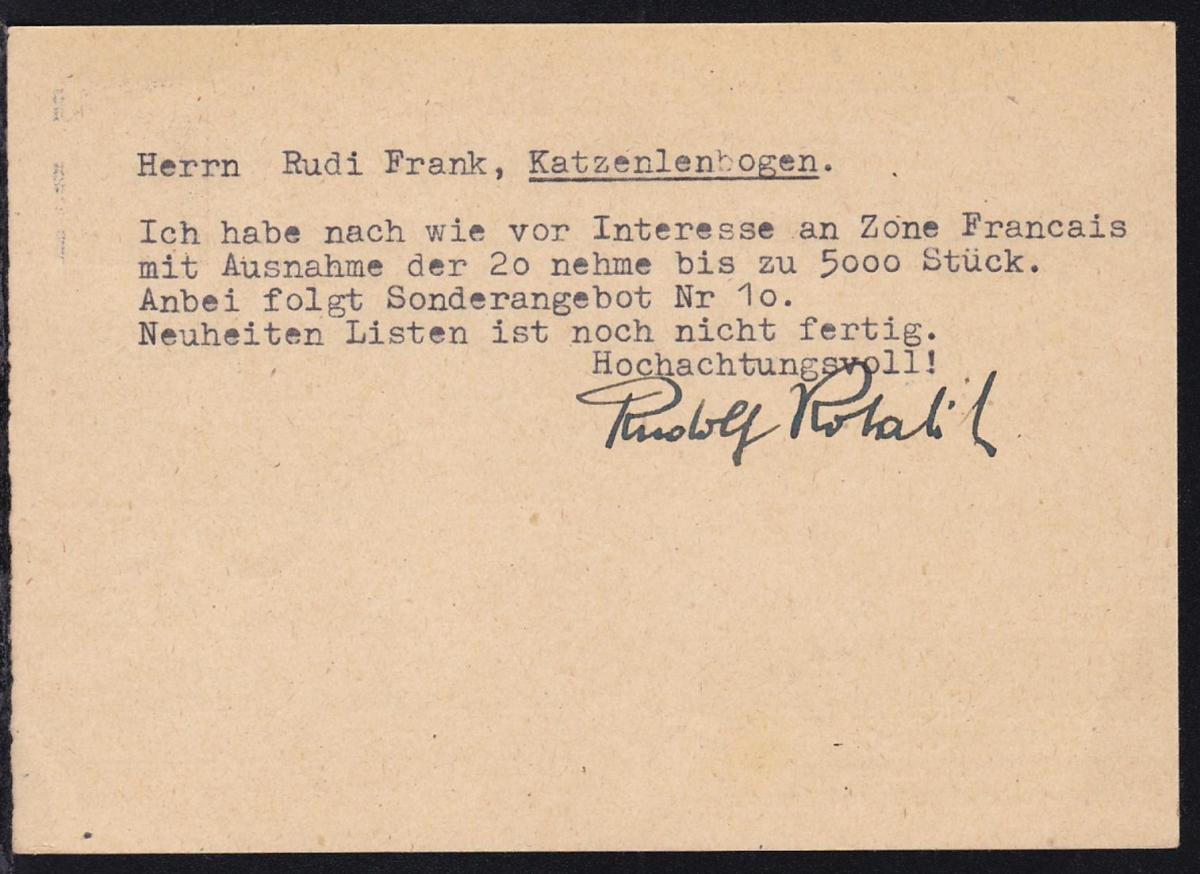 überdruckte Hitler-Ganzsache, wurde als Formblatt verkauft, Karte beschrieben 1