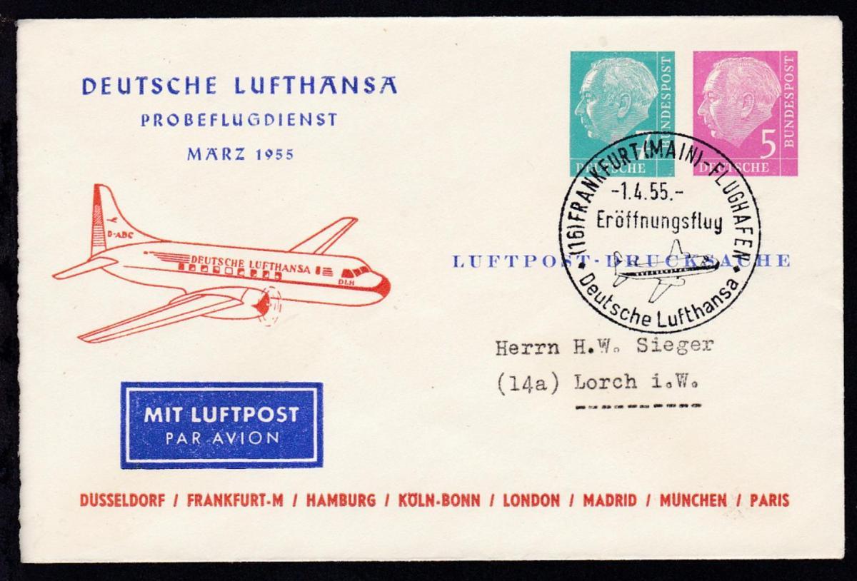 Deutsche Lufthansa Probeflugdienst März 1955
