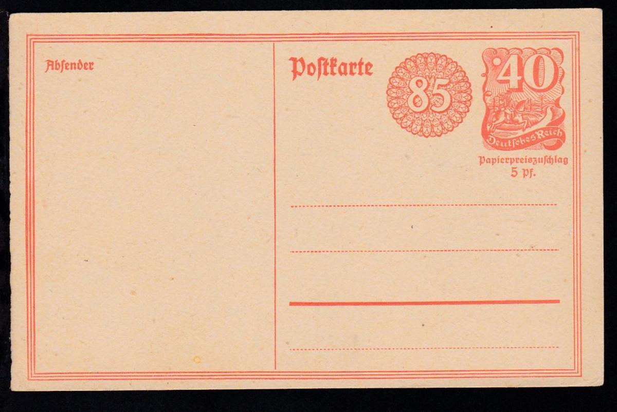 Postreiter 40 Pfg. mit Ergänzungswertziffer 85 Pfg.