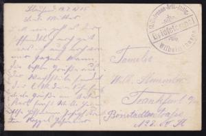 (14.7.15) Steg-K1 Briefstempel VI. Matrosen-Artl.-Abtlg. Wilhelmshaven
