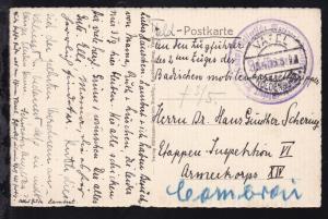 OSt. Varel 15.4.15 + K1 Briefstempel Kaiserliche Marine