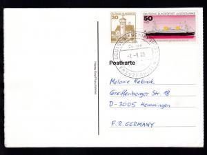 DEUTSCHE SCHIFFSPOST ms Europa hapag-Lloyd KREUZFAHRTEN 7.9.89 auf CAK