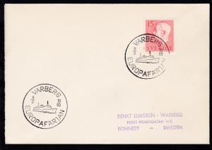 VARBERG EUROPAFERGEN 8.5.1960 auf Brief