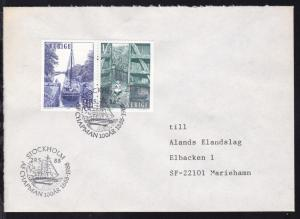 STOCKHOLM AF CHAPMAN 100 AR 1888-1988 29.5.88 auf Brief
