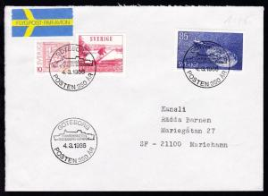 GÖTEBORG POSTEN 350 AR FRIMÄRKSBATEN GÖTEBORG-LONDON 4.3.1986 auf Brief