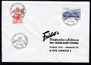 150 AR DAMPSKIPSPOST PRINDS GUSTAV 8000 BODÖ 9.3.1988 auf Brief
