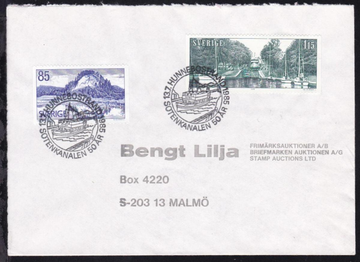 HUNNEBOSTRAND SOTENKANALEN 50 AR 13.7.1985 auf Brief 0