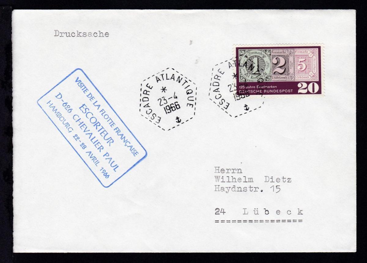 ESCADRE ATLANTIQUE 23.4.1966 + R4 VISITE DE LA FLOTTE FRANCAISE 0
