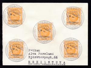 GÖTEBORG 50 AR SVENSKA OSTASIATSKA KOMPANIET 20.8.1957 auf Brief