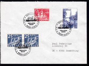 GÖTEBORG POST-EXPO SEGLANDE SKEPP 7.6.1984 auf Brief