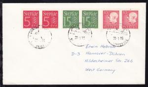 VARBERG-GRENA EUROPAFERGEN 27.1.75 auf Brief