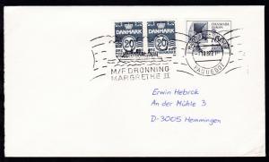RÖDBY-FEHMERN PAQUEBOT 7.10.82 M/F DRONNING MARGARETHE II auf Brief