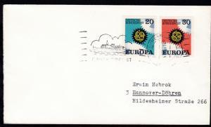 RÖDBY-FEHMERN PAQUEBOT 4.06.71 DANSK SÖPOST auf Brief