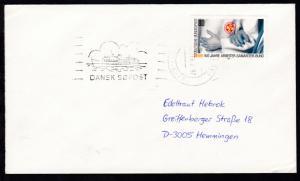 RÖDBY-FEHMERN PAQUEBOT 26.2.89 DANSK SÖPOST auf Brief