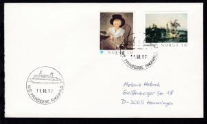 M/S PRINSESSE RAGNHILD 11.08.87 auf Brief