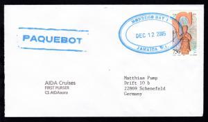 Oval-Stempel Montego Bay Jamaica DEC 12 2005 + R1 PAQUEBOT auf Brief vom